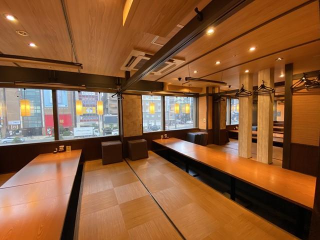 南4条エリア 36号線沿いビル138坪 窓付き2階 居酒屋居抜き : 希少な窓付きの居酒屋物件!